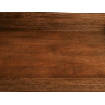 "22"" Dark Stained Wood Grooved Serving Tray-Wald Imports"