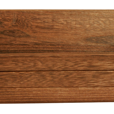 "12"" Dark Stained Wood Grooved Serving Tray-Wald Imports"