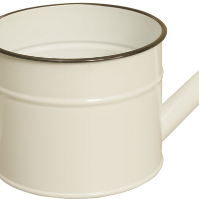 "7"" Pearl White Metal Watering Can-Wald Imports"