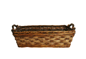 "17"" Carved Willow Basket-Wald Imports"