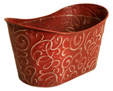 "Double 6"" Metal Planter-Wald Imports"