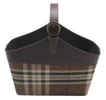 "15"" Large Brown Plaid Tote w/ Handle-Wald Imports"