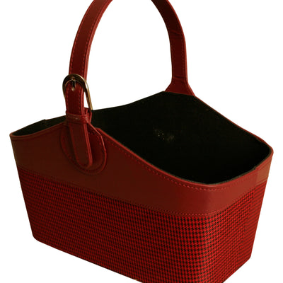 TOTE Burgundy Tote with Buckle-Handle-Wald Imports
