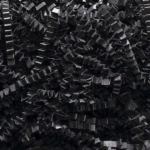 Spring-Fill Crinkle Cut Paper Shred, 10lbs Black-Wald Imports