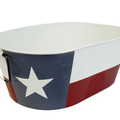 Texas Flag Metal Container-Wald Imports
