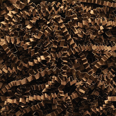 Spring-Fill Crinkle Cut Paper Shred, 40lbs Chocolate-Wald Imports