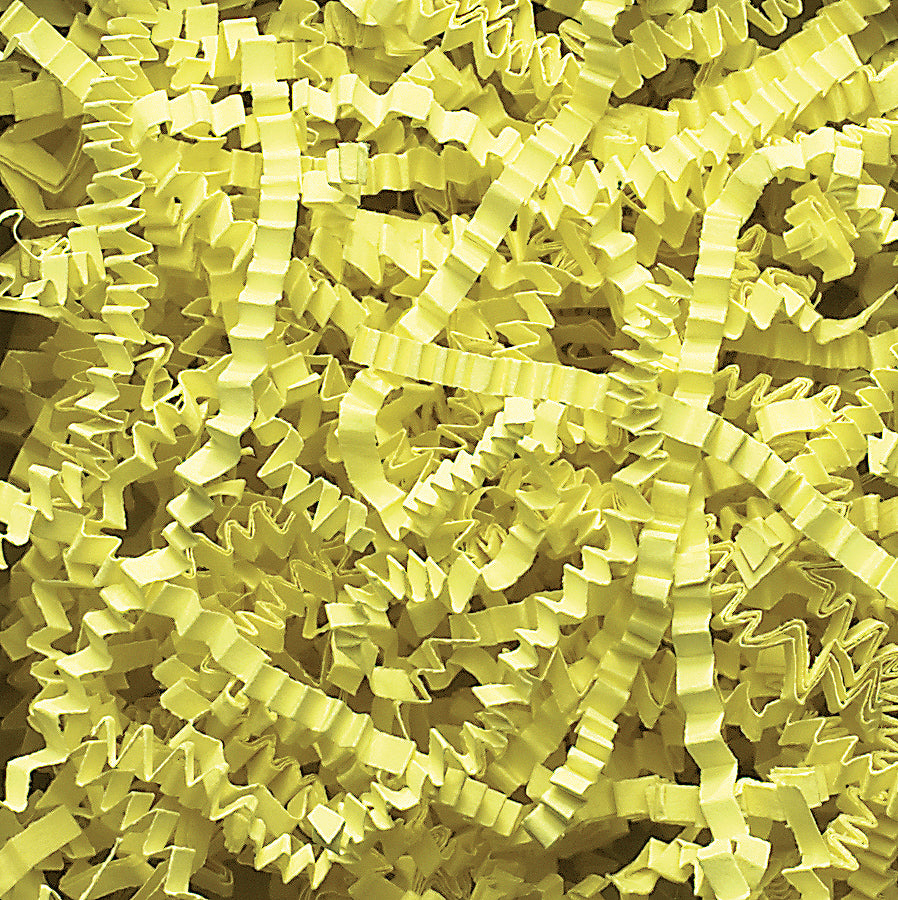 Spring-Fill Crinkle Cut Paper Shred, 40lbs Citron-Wald Imports