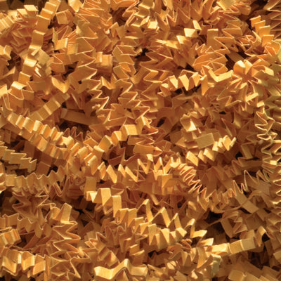 Spring-Fill Crinkle Cut Paper Shred, 10lbs Cognac-Wald Imports