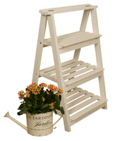3-Tiered Wooden Ladder Plant Stand-Wald Imports