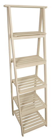 Five Tier Wooden Garden Display Ladder