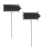 Display Set of 2 Wood Chalkboard Arrow Sign-Wald Imports