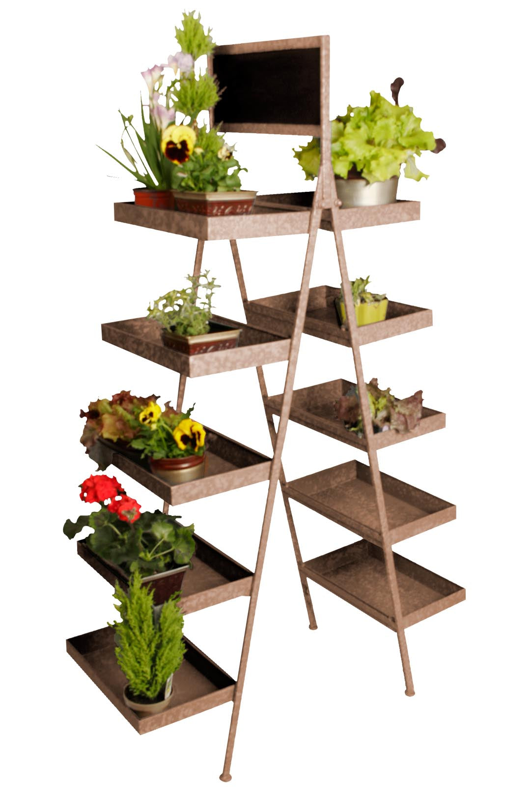 Five Level Ladder Plant Stand Retail Floral Displays