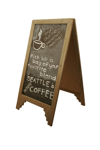 Wood Chalkboard A-Frame Sign-Wald Imports