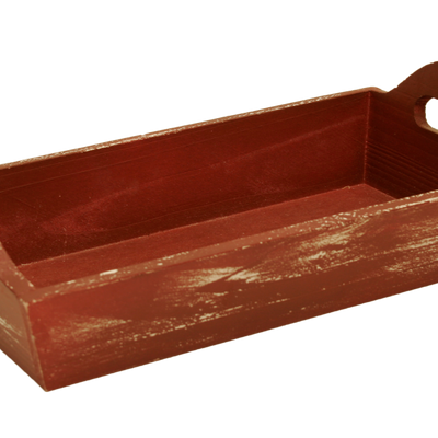 Weathered Red Wooden Serving Trays-Wald Imports