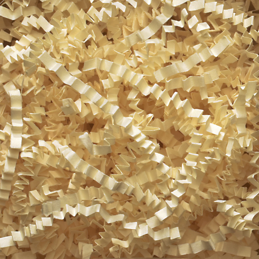 Spring-Fill Crinkle Cut Paper Shred, 40lbs French Vanilla-Wald Imports