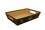 Large Brown Paperboard Tray-Wald Imports