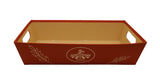 Large Red Paperboard Tray-Wald Imports