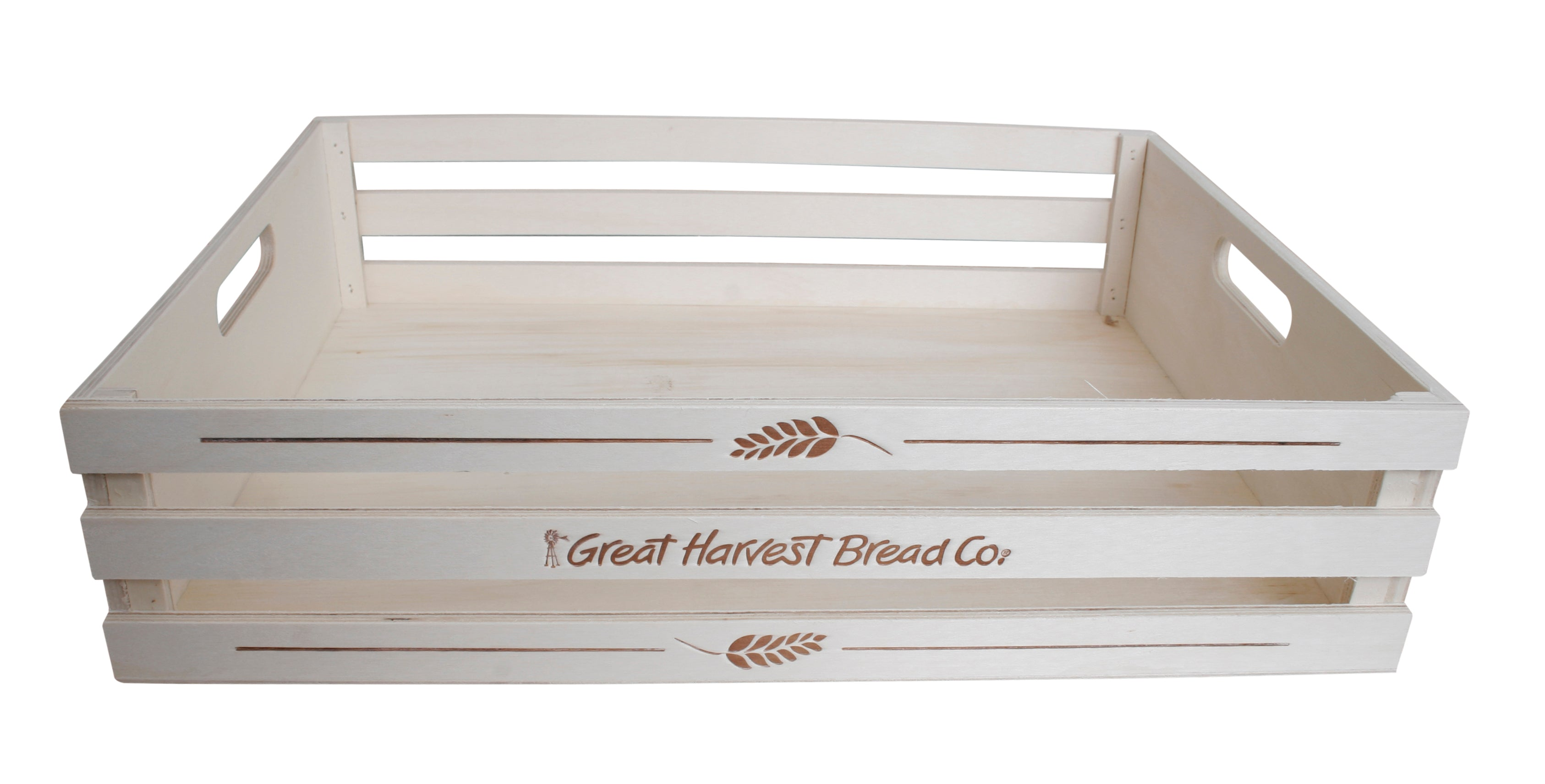 "17"" Slatted Natural Wood Tray-Wald Imports"