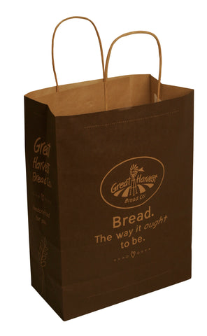 Logo Paper Shopping Bag in Brown