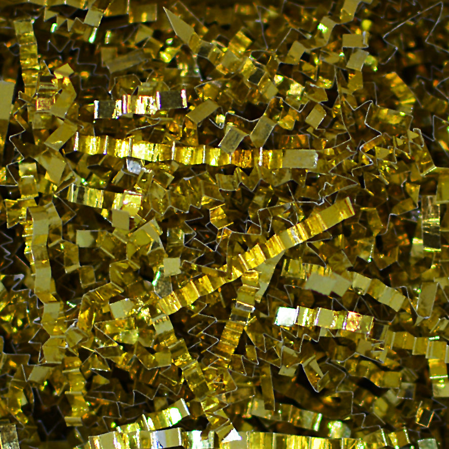 Spring-Fill Crinkle Cut Metallic Sparkle Shred, 5lbs Gold-Wald Imports