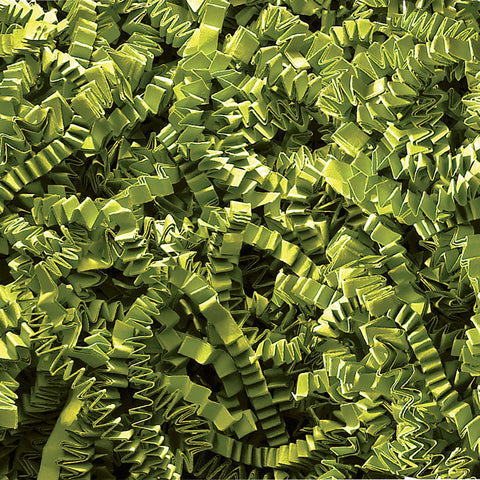 Spring-Fill Crinkle Cut Paper Shred, 10lbs Green Tea-Wald Imports