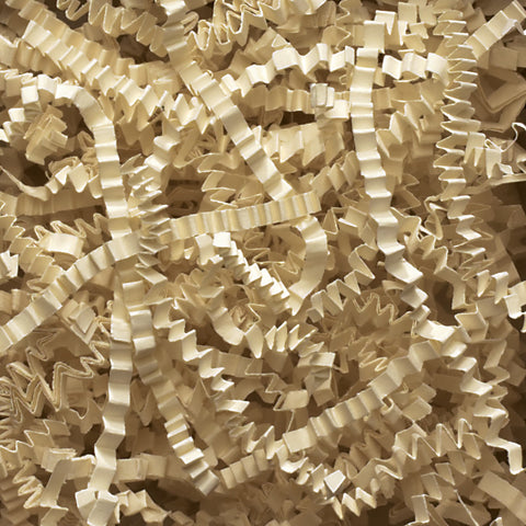 Spring-Fill Crinkle Cut Paper Shred, 40lbs Ivory-Wald Imports