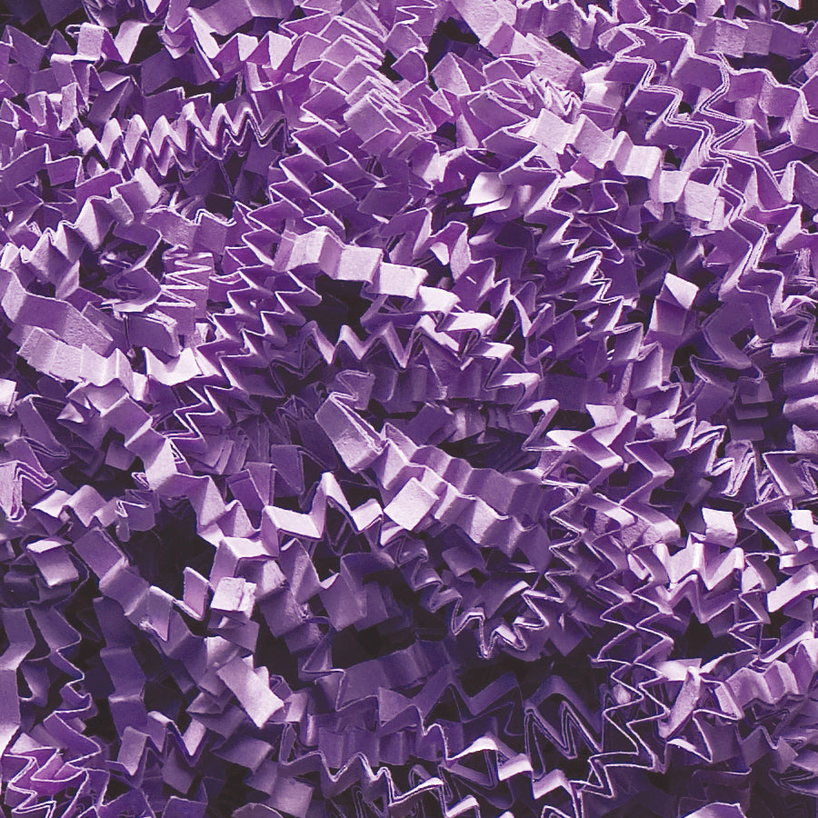 Spring-Fill Crinkle Cut Paper Shred, 40lbs Lavender-Wald Imports