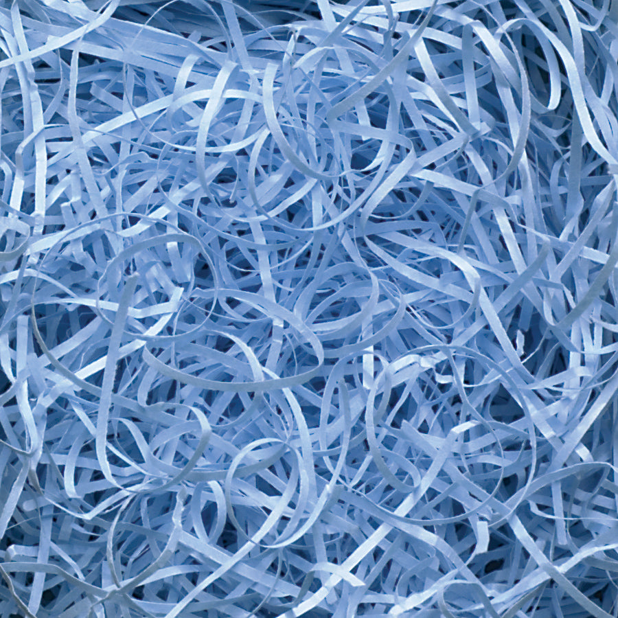 Spring-Fill Veryfine Cut Paper Shred, 10lbs Light Blue-Wald Imports