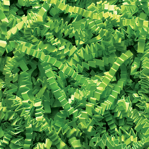 Spring-Fill Crinkle Cut Paper Shred, 10lbs Lime Green-Wald Imports