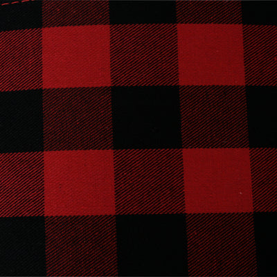 Red & Black Buffalo Plaid Fabric Container-Wald Imports