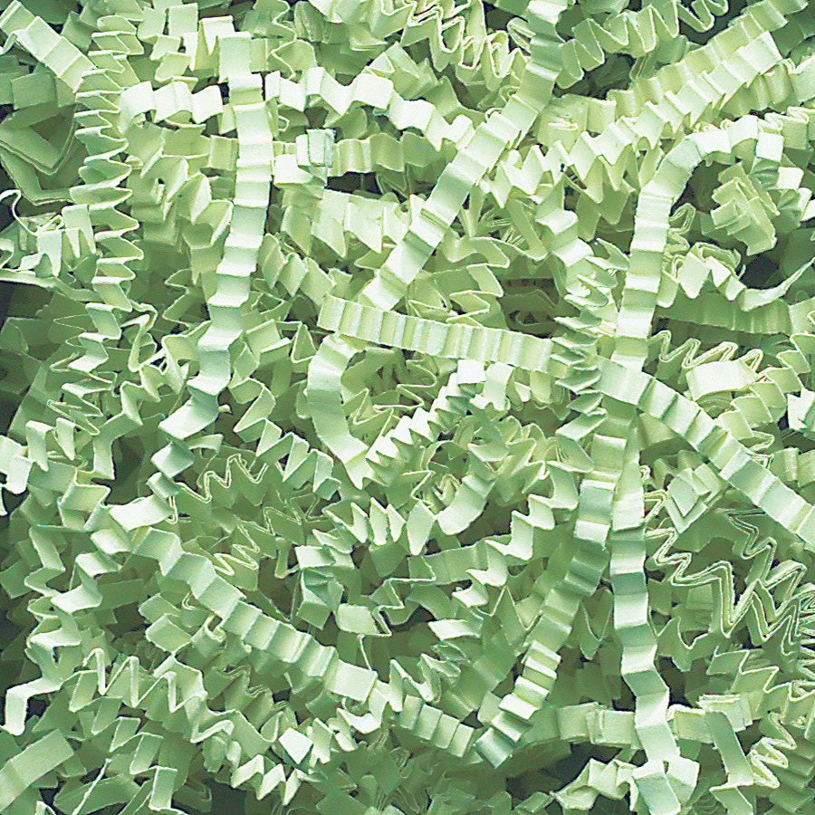 Spring-Fill Crinkle Cut Paper Shred, 10lbs Mint Green-Wald Imports