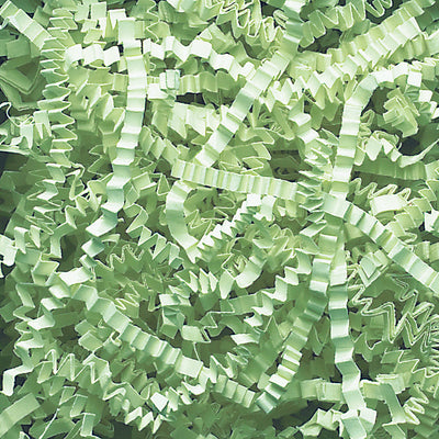 Spring-Fill Crinkle Cut Paper Shred, 40lbs Mint Green-Wald Imports