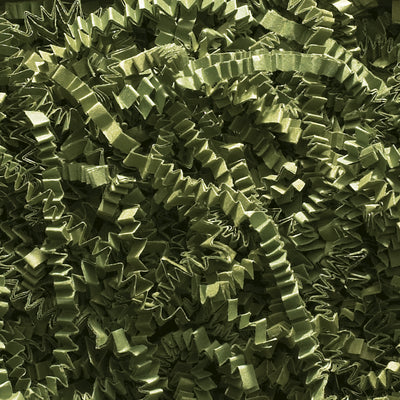 Spring-Fill Crinkle Cut Paper Shred, 10lbs Olive Green-Wald Imports