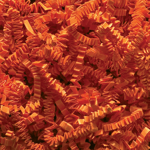 Spring-Fill Crinkle Cut Paper Shred, 40lbs Orange-Wald Imports