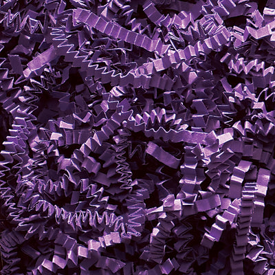 Spring-Fill Crinkle Cut Paper Shred, 40lbs Purple-Wald Imports