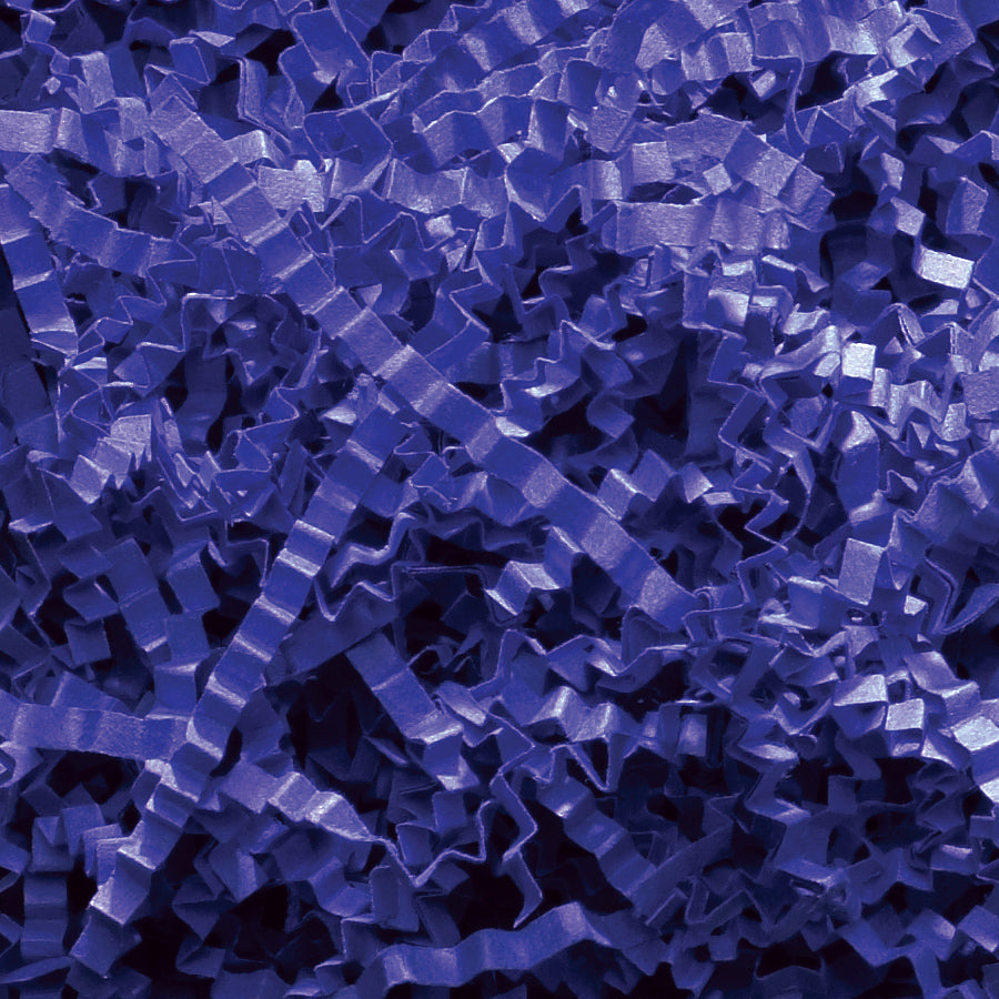 Spring-Fill Crinkle Cut Paper Shred, 40lbs Royal Blue-Wald Imports