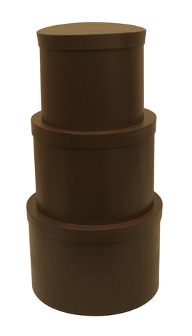 Set of 3 Brown Stackers w/Wine Compartment-Wald Imports
