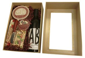 Gold Paperboard Box w/Single Wine Compartment-Wald Imports