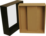 Black Paperboard Box w/Double Wine Compartment-Wald Imports