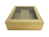 Gold Paperboard Box w/Double Wine Compartment-Wald Imports