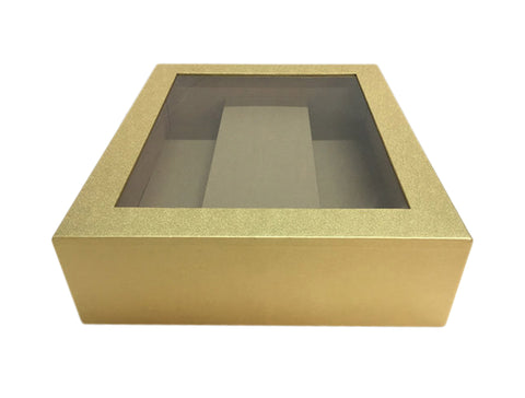 gold paperboard box w double wine compartment gift boxes wald