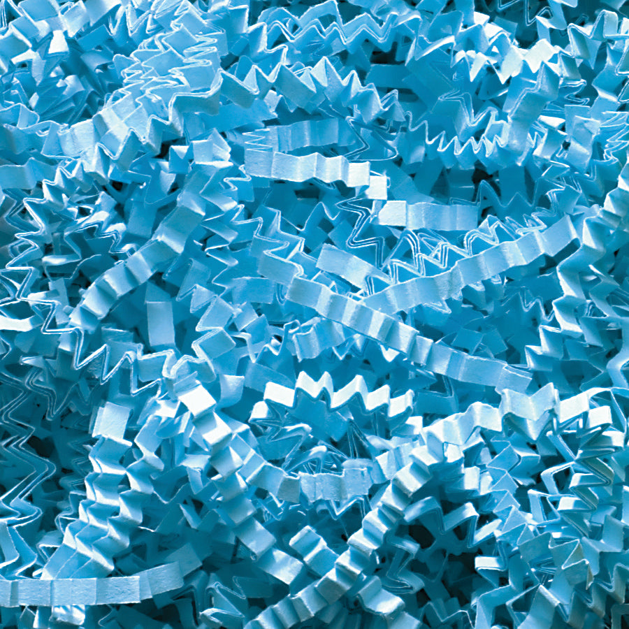 Spring-Fill Crinkle Cut Paper Shred, 40lbs Sky Blue-Wald Imports