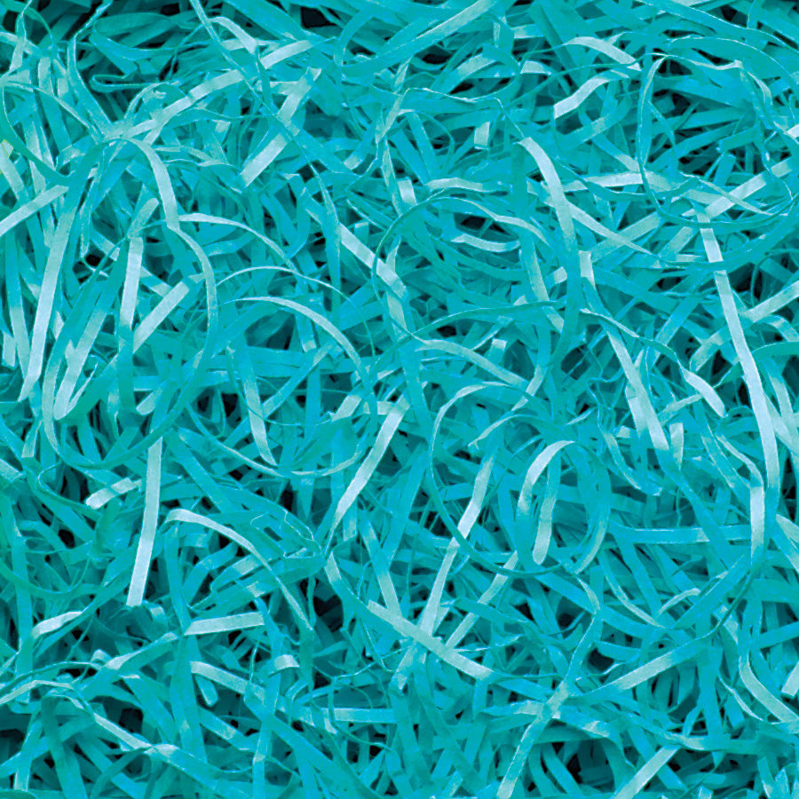 Spring-Fill Veryfine Cut Paper Shred, 10lbs Teal-Wald Imports