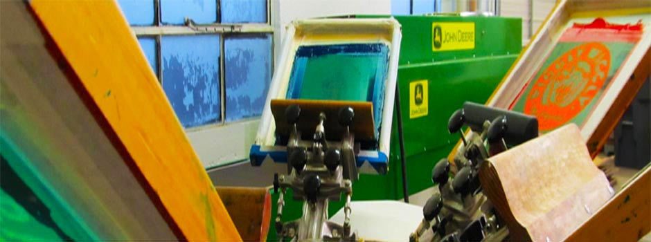 Screen Printing • • • over 30 years of textile and technical screen printing experience.