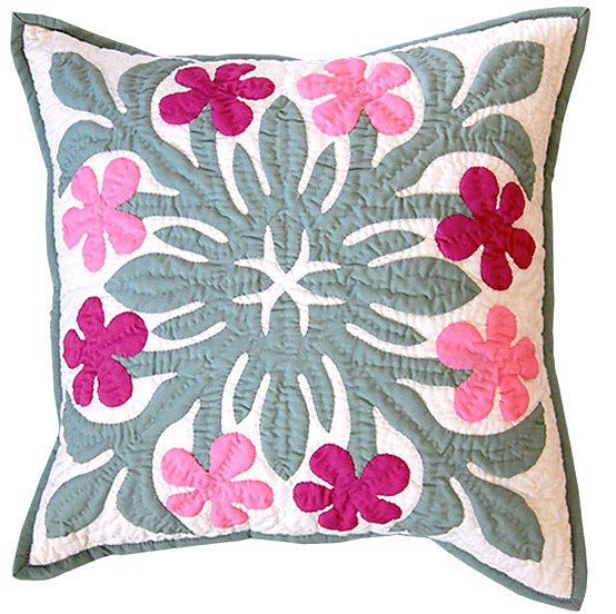 Pillow Cover - multi pink plumeria