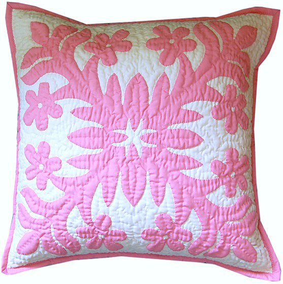 Pillow cover - plumeria