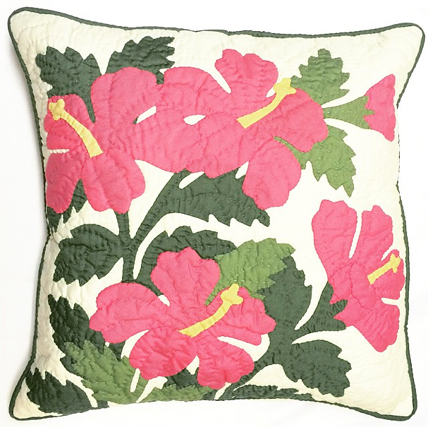 "Pillow Cover - 16"" x 16"" multi hibiscus"