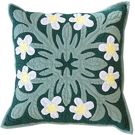 Pillow Cover - white plumeria