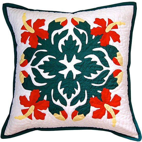 Pillow Cover - multi hibiscus