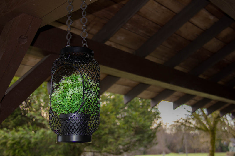 [DIY] IKEA Hack: TOPPIG Lantern + FEJKA Potted Plant + Decorative Chain